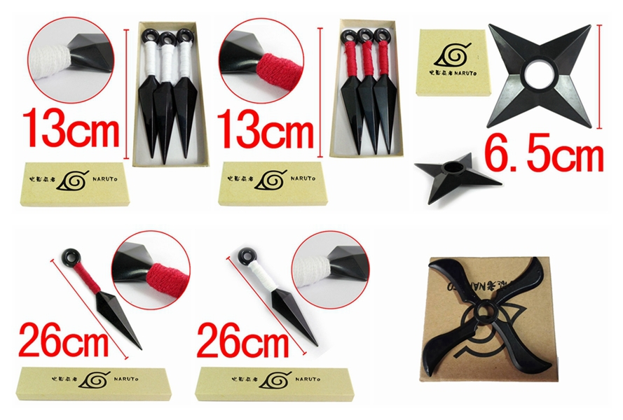 Naruto Cosplay Shuriken Kunai Dart Dagger Model Toys Kakashi Cosplay Japanese Toys Anime 6.5-26cm Pvc Games Naruto Kits Hot Toys new draven shuriken naruto rotatable darts weapon model kids toy christmas gift cosplay props for collection fidget toys gift