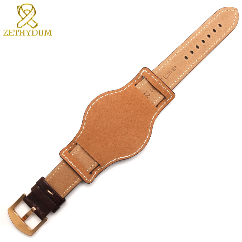 Genuine leather bracelet 18mm 20mm 22mm watch strap mens watchband With mat wristwatches band handmade leather bracelet