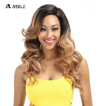 Noble T Part Lace Front ombre blonde Wig 22 Inch Long Wavy S