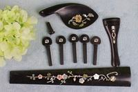 5 string 4/4 violin tailpiece peg End pin chin rest Fingerboard Inlaid pattern Violin Parts & accessories