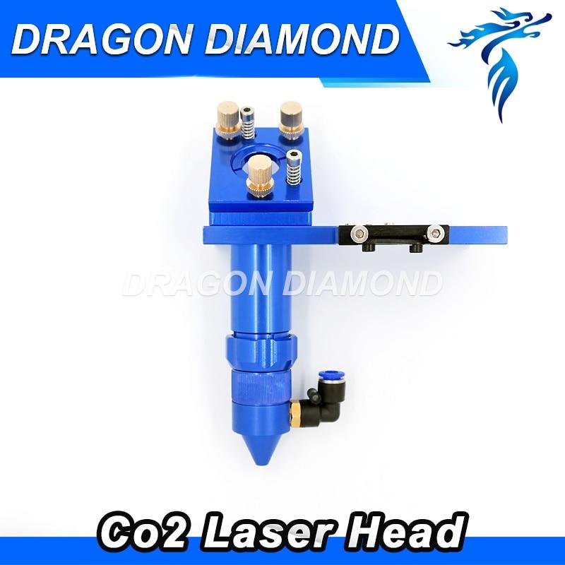 Hot Sale CO2 Engraver Cutter Laser Head Set 50.8mm 100mm Focal Focus Lens Mirror Integrative Mount 1320nm laser lens probe tip head for sale