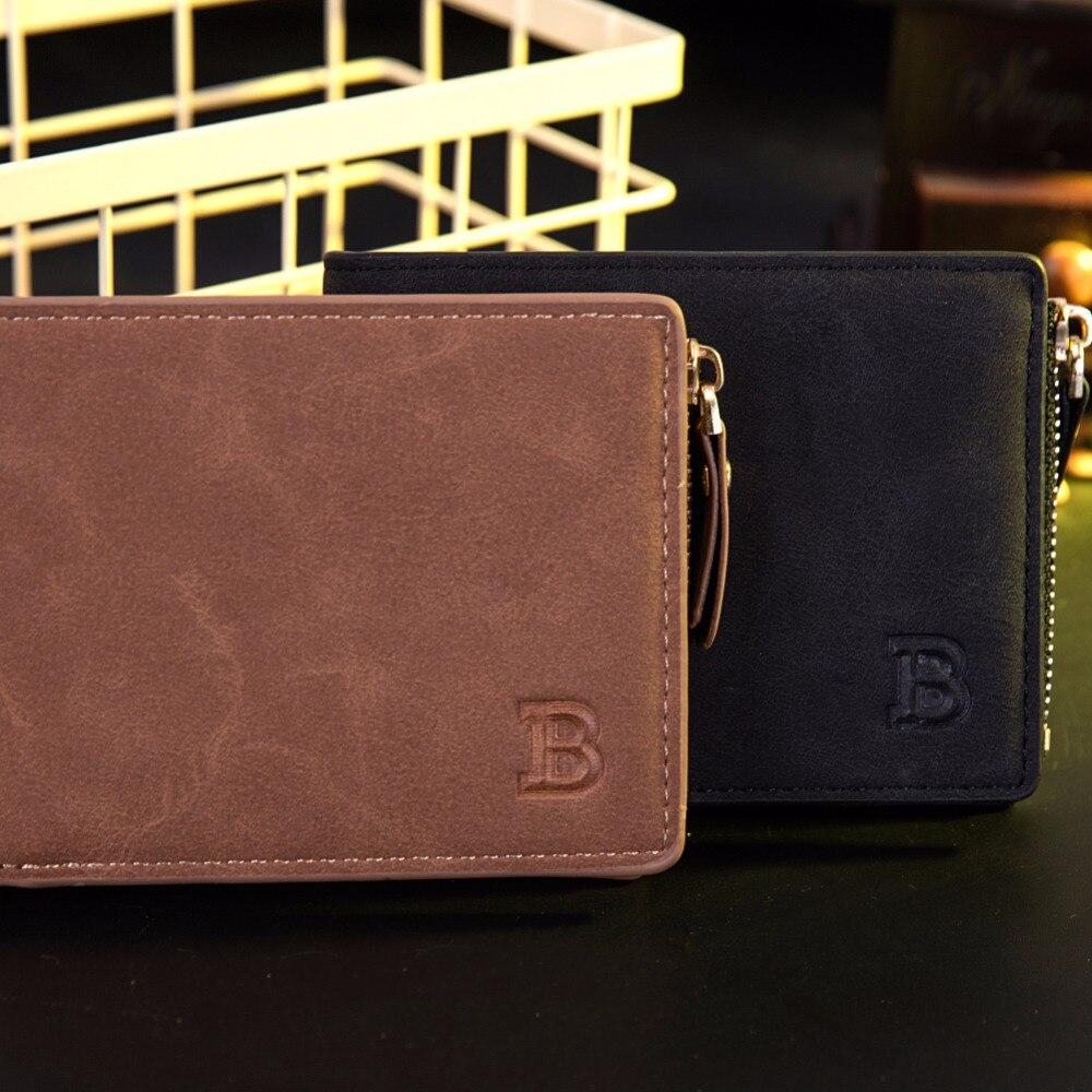 Dollar Price with Coin Bag zipper new men wallets mens wallet small money purses Wallets  New Design Top  Men Thin Wallet wallet