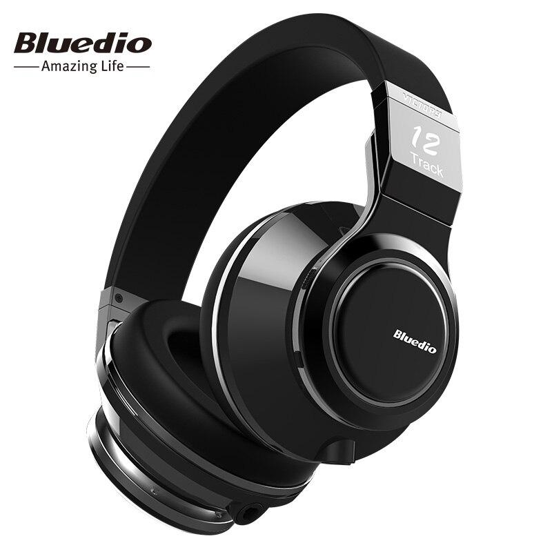 Bluedio Vitória High-End PPS12 motoristas sobre a orelha auscultadores Sem Fios Bluetooth BT 4.1 fone de ouvido com microfone design girado