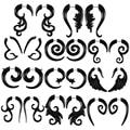 Акриловые черные спиральные ушные конические манометры, 2 шт., витые спиральные расширители, затычка для серег, женские Украшения для пирсин...