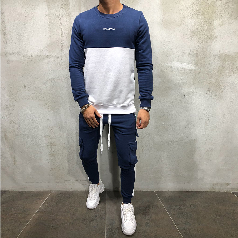 2018 new Tracksuit mens sports suits gym running 2 piece set men track suit Fitness jogging suit men Bodybuilding sportswear 6