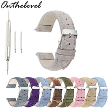 Onthelevel Suede Design Special&Classical Genuine Leather Watchband 18mm 20mm 22mm 24mm watch accessories watch Straps New адаптер поливного шланга grinda адаптер внутренний grinda 8 426315 8 426315