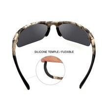 Half Frame Camo Sunglasses Men Polarized Sports Eyewear UV400 Fishing Cycling Goggle Summer Gafas Ciclismo Oculos Masculino