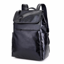 цена на PU Leather men's bag notebook backpack man Preppy Style boys school bag Large Capacity male travel laptop backpacks Men bagpack