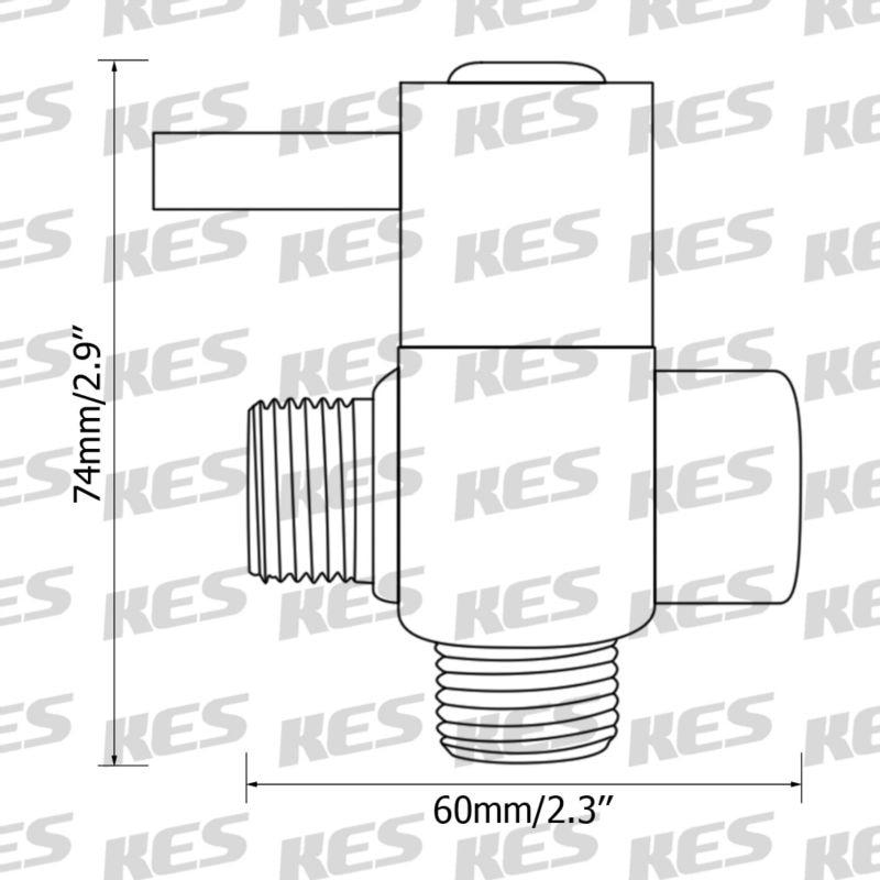 KES PV14 SOLID BRASS 3 Way Shower Arm Diverter Valve for ...