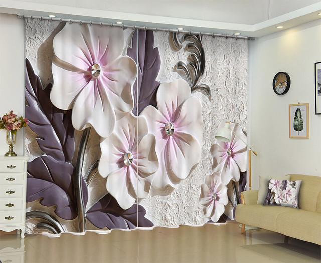 Wall Sculpture Photo Window Curtain For Home Make Your House More Artistic