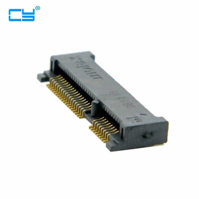 Mini PCI-E pci express pcie mSATA 52pin 4.0mm yükseklik priz dişi soketli konnektör adaptör panosu montaj SMT SSD
