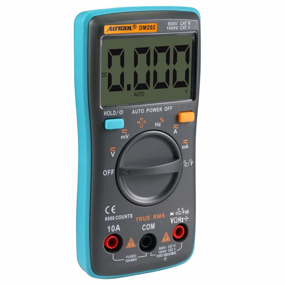 Autool Dm202 Portable Autoranging Digital Multimeter Electronic Electronics Test Circuit For A Series Including Voltmeter Tool Backlight Ac Dc Ammeter Ohm Meter In Multimeters Analyzers