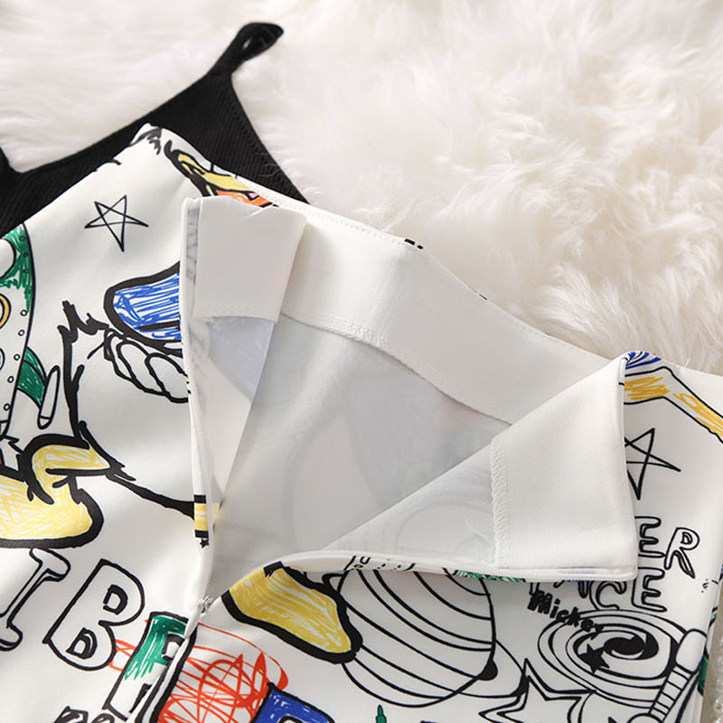 Cartoon Mouse Print High Waist Slim Skirts Young Girl 23
