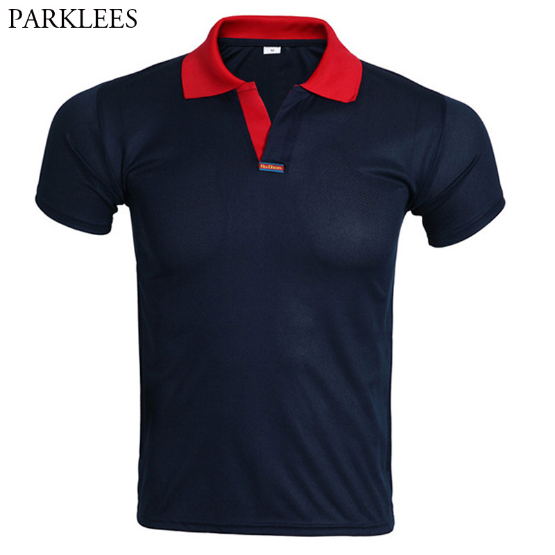 Classic V Neck   Polo   Shirt Men   Polo   Homme 2017 Brand New Fashion Short Sleeve   Polo   Shirts Solid Color   Polos   Camisa Masculina 3XL