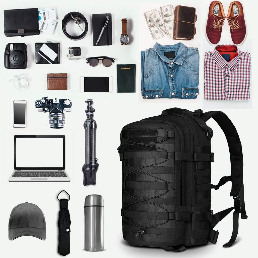 Sac à dos tactique Molle militaire assaut Pack Nylon Trekking sac à dos ordinateur portable sac à bandoulière pour voyager Camping randonnée escalade - 5