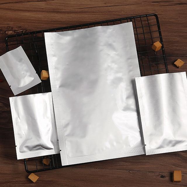 Urijk 100 pcsMultisize Zip Lock Bolsas de Armazenamento de Pacote De Armazenamento De Alimentos Aferidor Do Vácuo Sacos de Mylar Folha De Alumínio Para Utensílios de cozinha