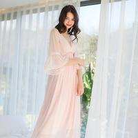 Elegante Sleepwear Sexy Camisola Das Senhoras do Verão Camisola Real Vestido de Princesa Mulheres Sleepwear
