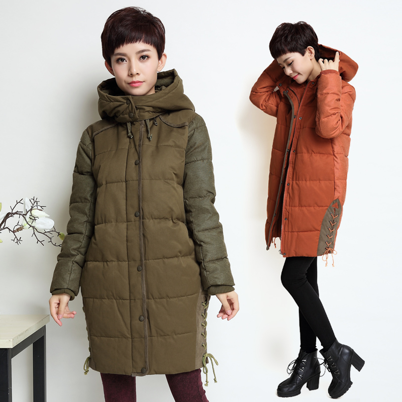 ФОТО Winter fashion medium-long  casual loose plus size cotton women's 100% cotton-padded coat