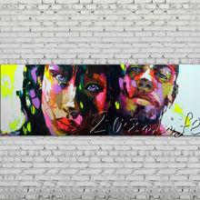 Palette knife portrait Face Oil painting Character figure canva Hand painted Francoise Nielly wall Art picture for living room64