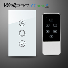 Wallpad 118 US AU Standard Crystal Glass White Wireless Remote control wall Dimmer touch switch,Wifi Dimmer Switch,Free Shipping