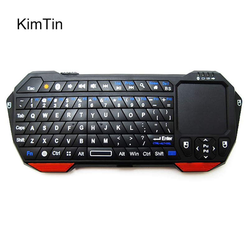 KimTin BT05 Ultra thin 3 in 1 Backlit Remote Control Wireless Bluetooth Keyboard Mouse Mice Touchpad For Windows For iOS Android t2 2 4ghz ultra thin wireless mini keyboard with touchpad mouse colorful backlit