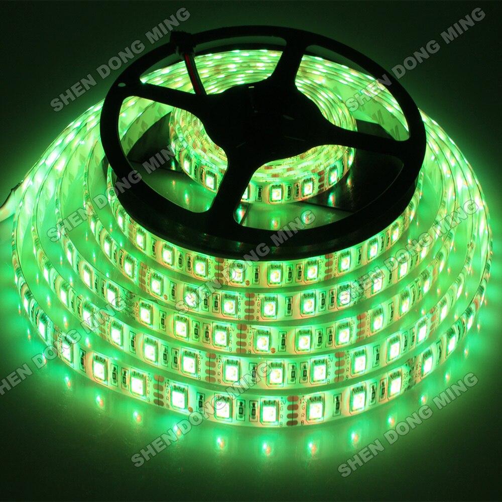 Гибкие светодиодные ленты Водонепроницаемый RGB Светодиодные ленты Light 5050 IP65 300 светодиодов/5 м + 24key ИК-пульт + 12 В 6 питания