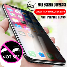 IIRROONN Privacy Screen Protector For i hone 6 S 7 8 X Anti-Peep Tempered Glass iPhone plus Film Protection