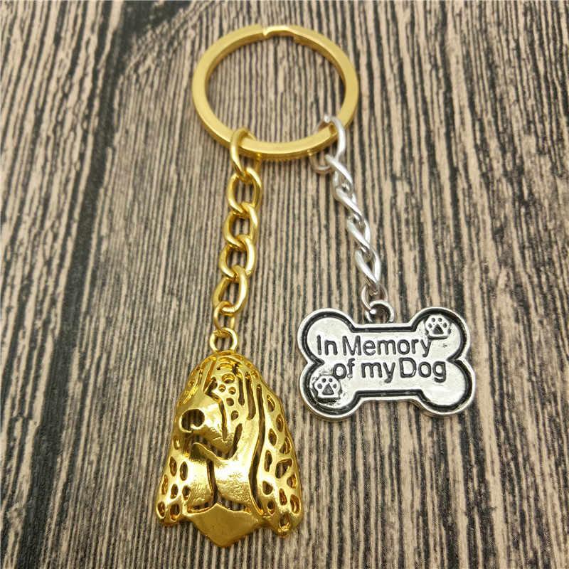 Basset Hound Key Chains Fashion Pet Dog Đồ Trang Sức Basset Hound Xe Keychain Bag Keyring Cho Phụ Nữ Người Đàn Ông