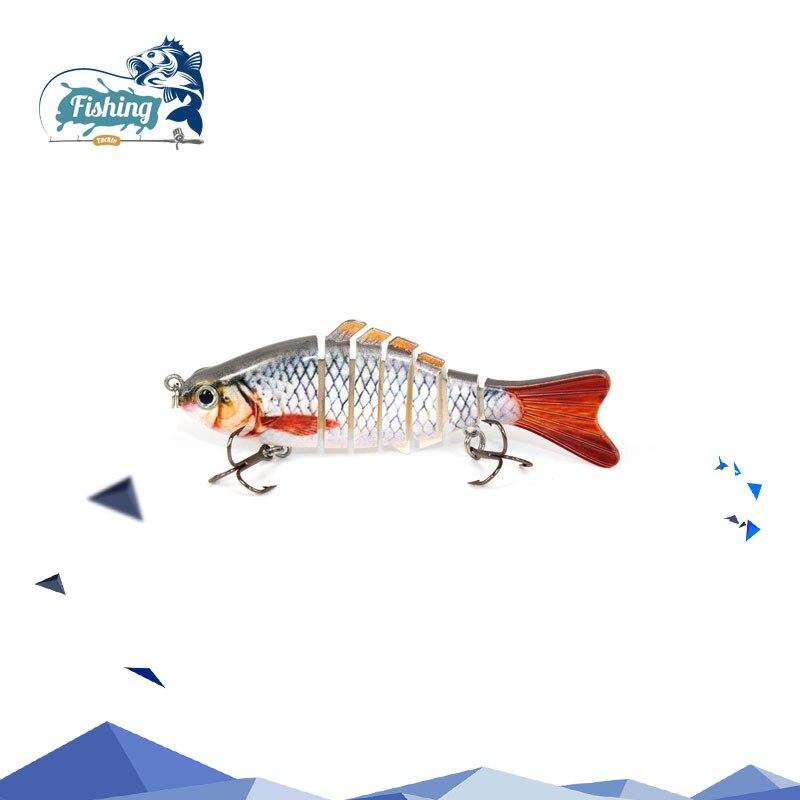 1pcs Fishing Lures huge Swimbait Crankbait Hard Bait 14 choices 10 cm 7 segemants Fishing Isca Artificial Lures Fishing Tackle