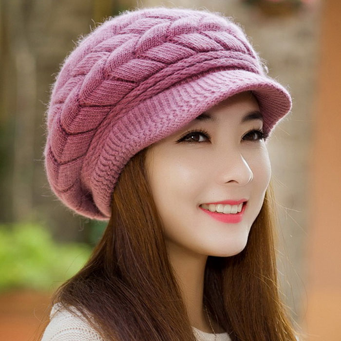 cee85cc9077 Women Winter hat Ladies Warm Knit Crochet Slouch Baggy Beanie Female Cap  bonnet Beanies Thick Skullies Baggy Knitted Hat-in Skullies   Beanies from  Apparel ...