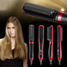Best Buy 2017 Fast Electric Hair Straightener Comb Alisadora Steam Hair Straightening Iron Professional Hair Styling Tool With Plug