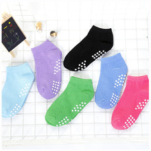 Good Quality Solid Color Trampoline Socks Cotton Anti-skid Early Morning Fun Professional Non-skid