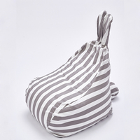 Cute rabbit ears striped children's sofa lazy sofa seat stool Leisure bean bag removable washable EPP filled particles kids sofa