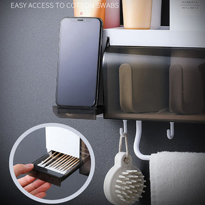 Image 5 - BAISPO Wall Mount Dust proof Toothbrush Holder With Cups Automatic Toothpaste Squeezer Dispenser Bathroom Accessories Sets