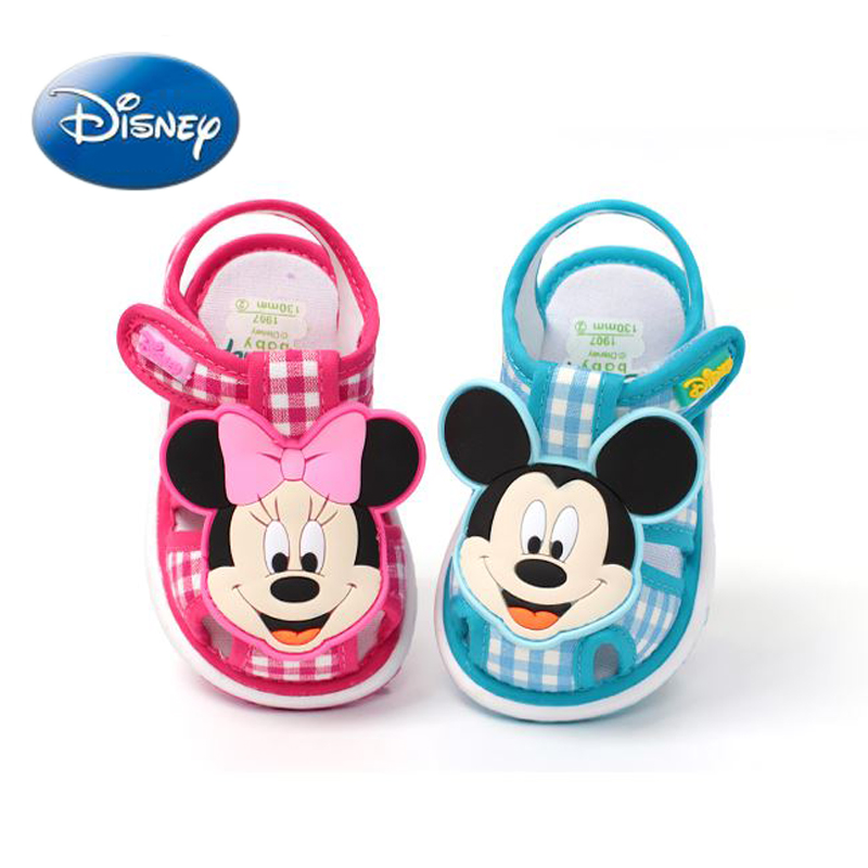 New Disney Girl Mickey&Minnie 2018 Sandals Children's Beach Shoes Baby Slippers Boys Non-slip Breathable Sandal Size 20-24