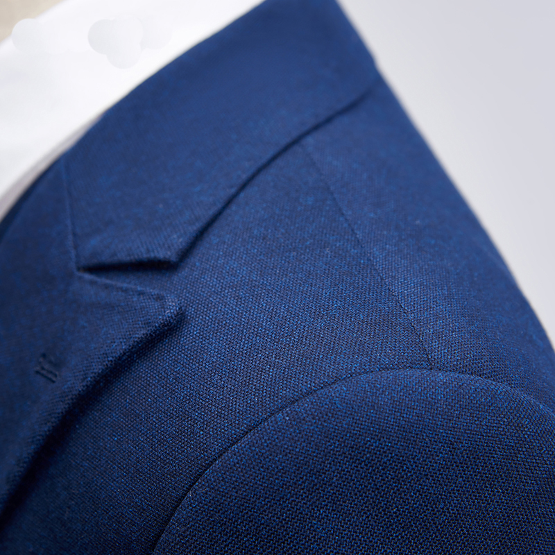 MEETBUD New brand men suit for wedding business casual slim fit prom party man dark blue black suits dress (jacket+pants+vest)