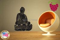 แฟชั่นศักดิ์สิทธิ์พระพุทธรูปบ้านdecalsศิลปะผนังตกแต่งฝาผนังไวนิลศาสนาSG109 65*85
