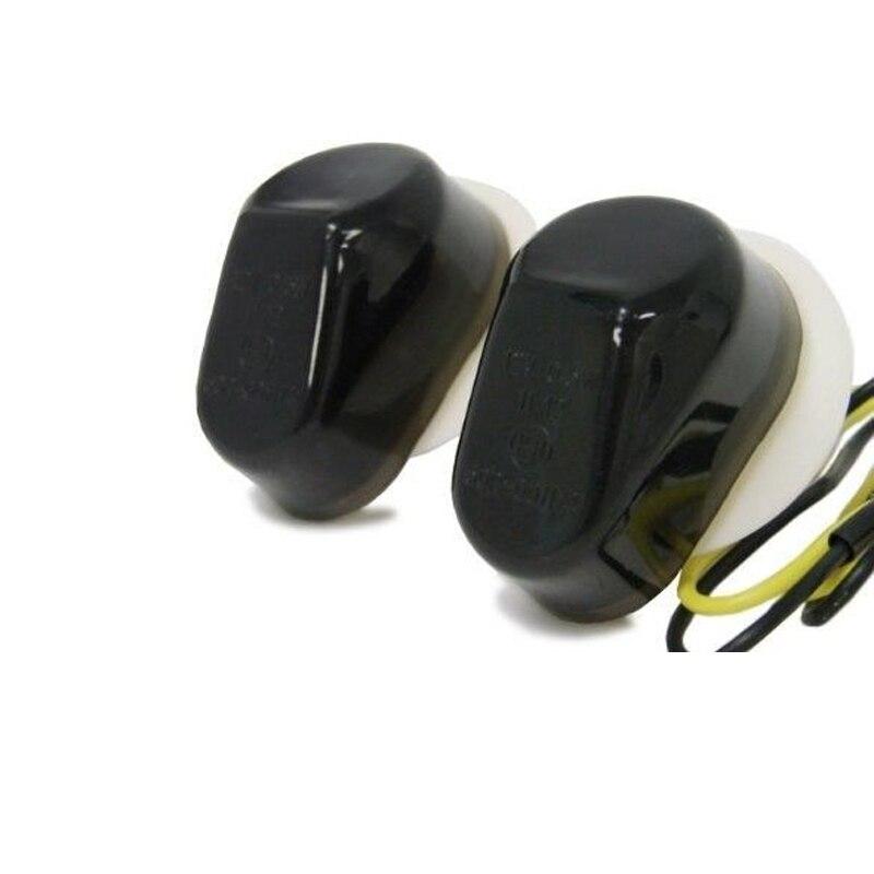 Motorcycle LED Mount Flush Blinker Smoke Turn Signals Indicator Light for Kawasaki ZX 6R 636 Ninja 2003 2004 2005