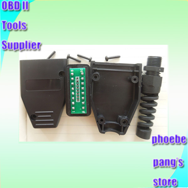 25% オフ FINETRIP ユニバーサルプラスチック Diy 車ケーブルケース Obd 雄プラグ OBD2 16Pin コネクタ J1962 卸売 50 個