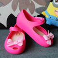 Fall Bow Girls Sandals Mini Melissa Sandals Baby Shoes Cute Little Bow Jelly Shoes Melissa Non-Slip Wear-Resistant Sandals Soft