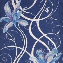 Romance moderno 3D Floral Wallpaper PVC Estereoscópica 3D Fondo de Pantalla Para El Dormitorio Murales de Papel de Pared Oro Rojo Azul Gris