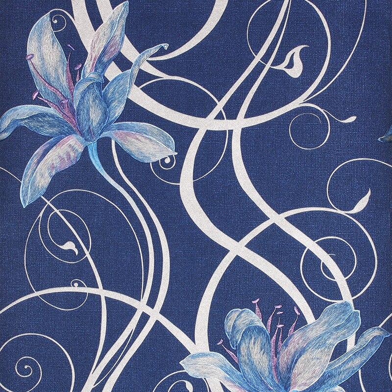 US $36.79 16% OFF|Moderne Romantik 3D Floral Tapete PVC Stereoskopischen 3D  Tapete Für Schlafzimmer Wandbilder Wand Papier Blau Rot Gold Grau in ...
