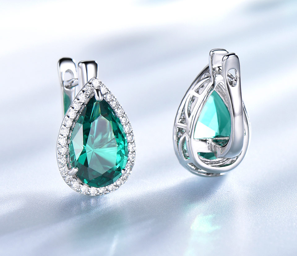 UMCHO-Emerald-925-sterling-silver-clip-earrings-for-women-EUJ087E-1-PC_04