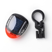 1 Set High Quality Ourdoor LED Light Solar Energy Bicycle Cycling Rear Tail LED Rechargeable Light Waterproof 3 Models
