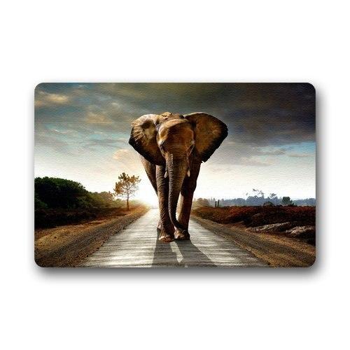 Shirleys Door Mats Custom Girly Whimsical Elephant Bright Home Doormats Top Fabric&Rubber Bathroom Welcome Mats Floor Mat Rug