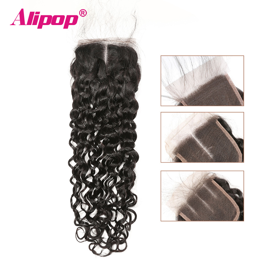 Water Wave Closure Peruvian Hair Lace Closure Human Hair Closure 10 20 22 24 Inches Closure