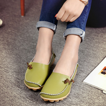 Women Shoes Split Leather Fashion Flats Loafers Basic Flats Shallow Slip-on Plus Size Woman Best Sellers High Quality Promotion цена
