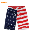 VICVIK brand Flag Beach Shorts For Boys Surf Board Short Custom Swim Trunks Kids Sport Wear American Flag Board Shorts 2016 New