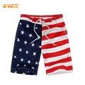 VICVIK marca Bandera de Playa Pantalones Cortos de Surf de mesa Muchachos Corto de Encargo traje de Baño Deporte Desgaste de Los Niños de La Bandera Americana Shorts Junta 2016 Nuevo