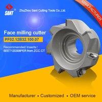 Combinado inserção SEET120308PER fresa Indexáveis fresagem ferramentas de corte cortador de frente para o FMP02-100-B32-SE12-07